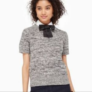 Kate Spade NWT GRAY Bow Collared Sweater